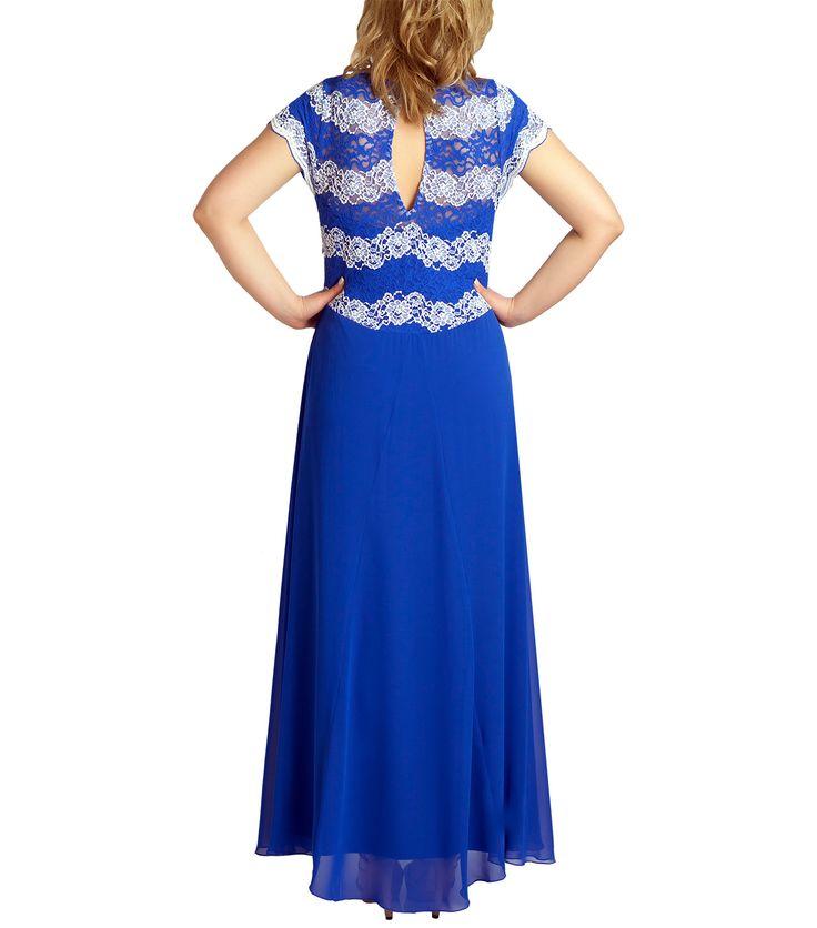 Εντυπωσιακό μπλε φόρεμα (πίσω) #bigsizes