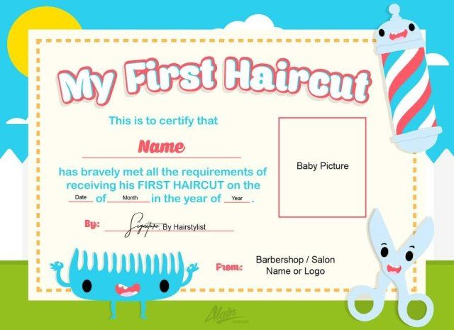 Pin On Baby S 1st Haircut Certificates