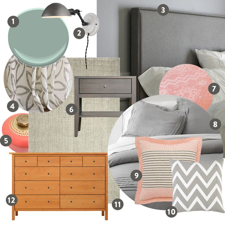 30 Grey And Coral Home Décor Ideas: 154 Best Chambre Images On Pinterest