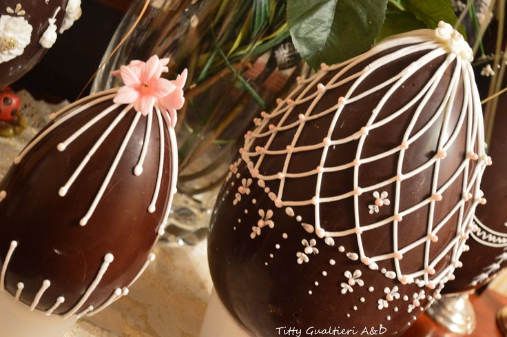 Uova di Pasqua decorate - Chocolate Easter egg - Fabergé Royal Icing Art