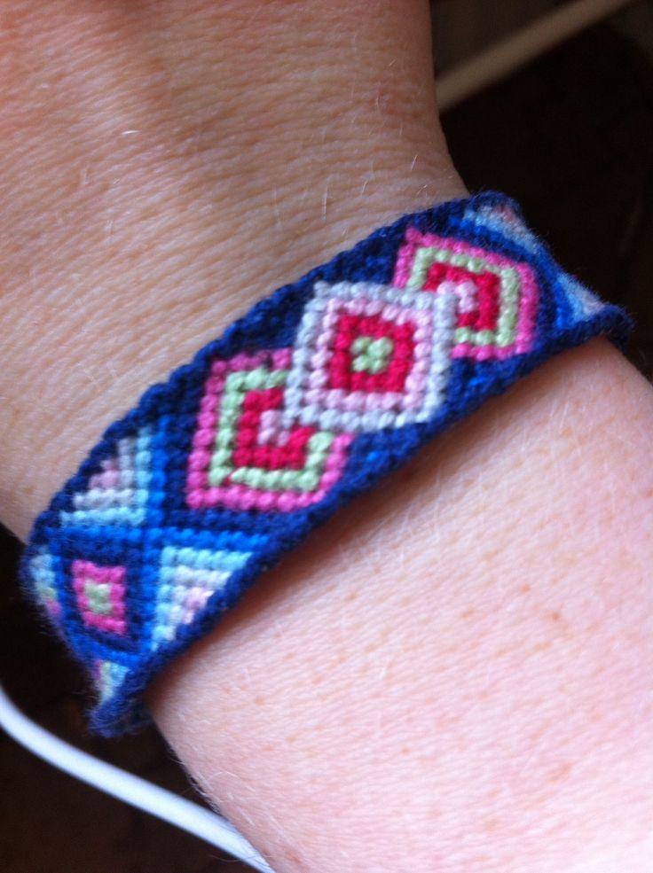 Orient blue friendship bracelet