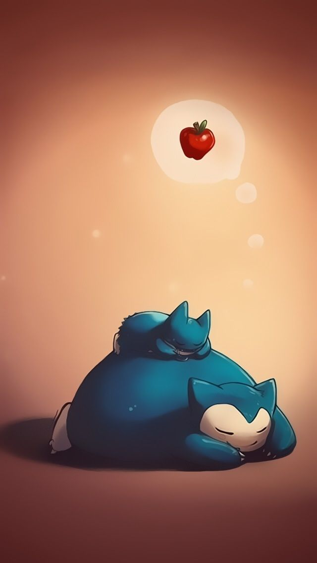 Snorlax and munchlax - Cute Pokemon iPhone Wallpapers ...