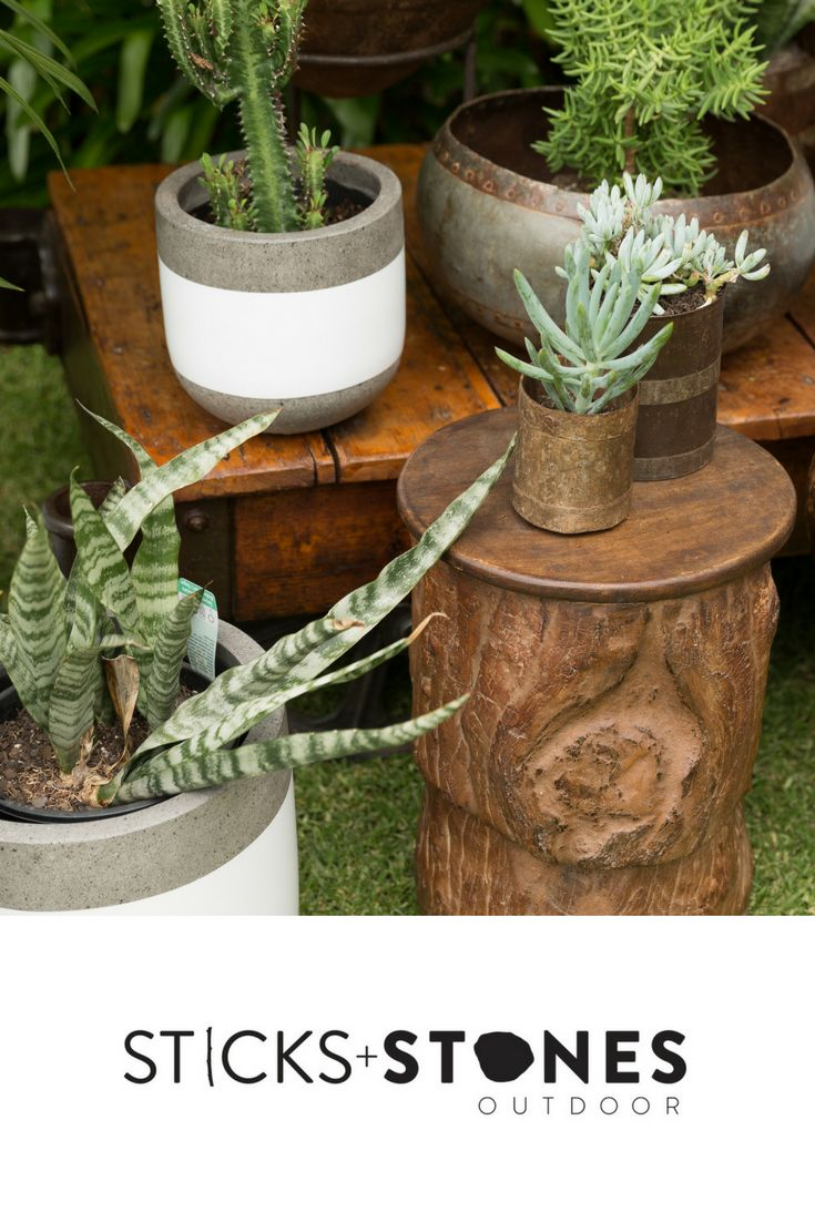 Lightweight and strong, expertly hand-crafted garden pots and planters suitable for indoor and outdoor use.  Shop for pots and planters from our collection with hand painted designs, neutral tones, and old stone which come in a variety of colours and sizes for any indoor/outdoor landscape.  #outdoordecor #homestyling #planters #pots #pottery