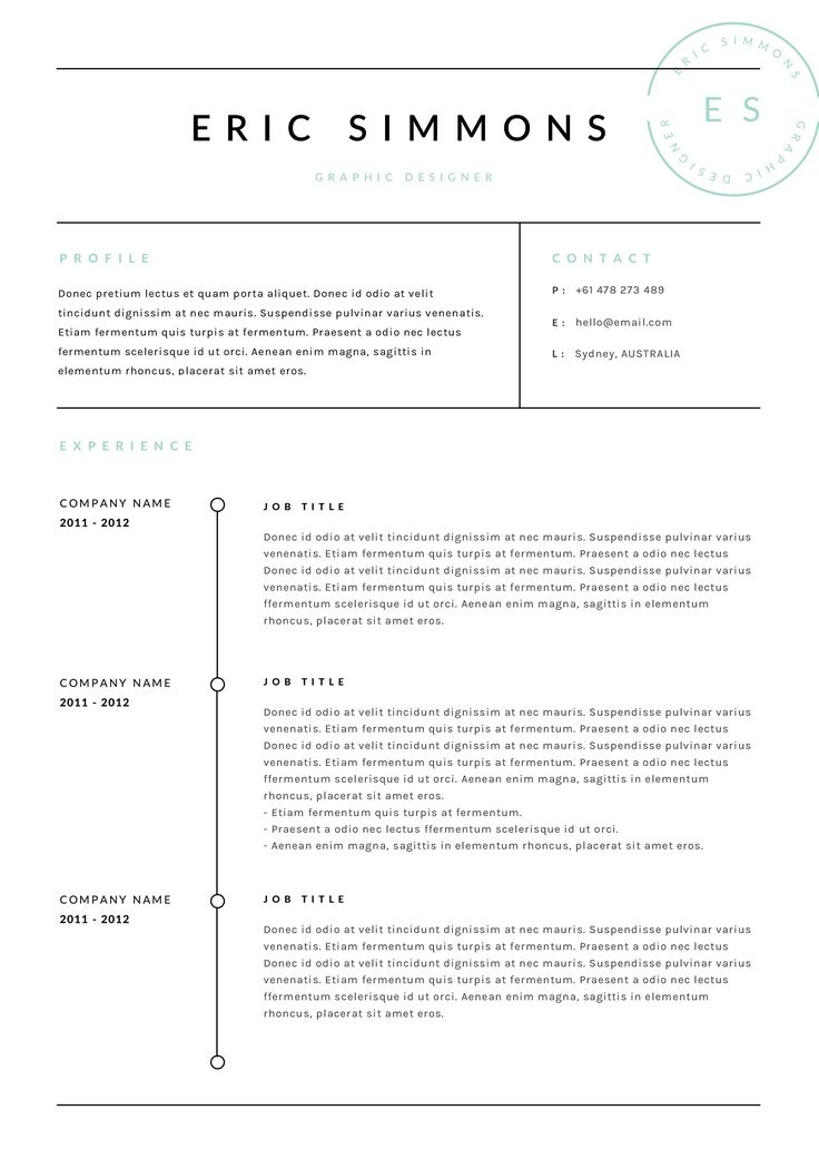 Business Resume Templates 61 Best Resumescv Images On Pinterest  Curriculum Resume And