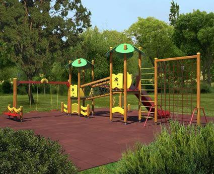 Gioco per parchi in legno / per parco giochi ECO PARK CARMO