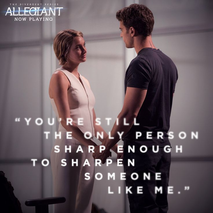 Four and Tris were made for each other. This weekend, experience #Allegiant in theaters!