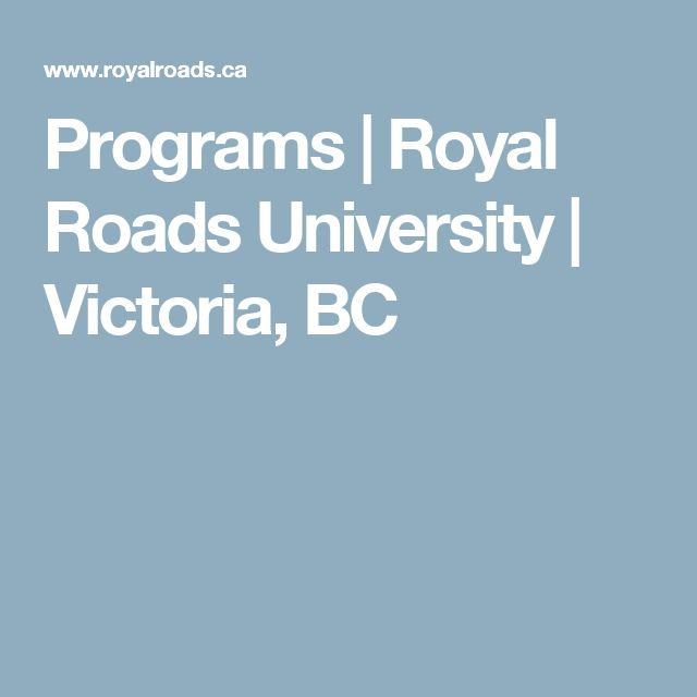 Programs   Royal Roads University   Victoria, BC