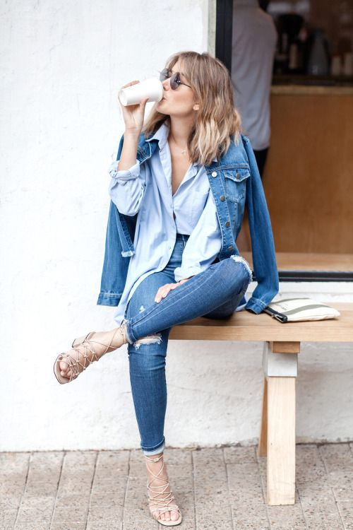 "Spik-e // Tumblr Denim in Spring & Fall |  Outfits to duplicate ""Blue Jean Baby, LA Lady"""