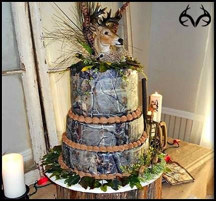 #Realtree edible #weddingcake décor, available in a variety of Realtree #camo patterns and sizes.