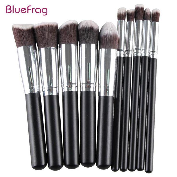 BLUEFRAG Pro Make-Up Pinsel Werkzeuge Pinceis De Maquiagem Holz Metall Synthetische Haar Palette Für Make-Up Pinsel 10 Teile/satz BLMB09212