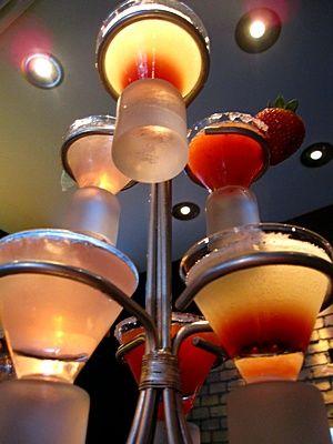 Beautiful Martini Display at YOLO in Fort Lauderdale on Las Olas
