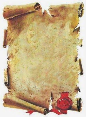 Pergaminos: Imagenes para Imprimir Gratis.