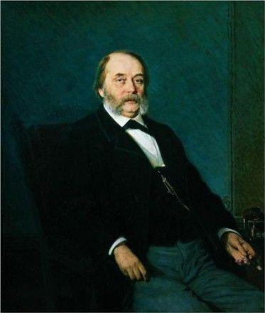 Portrait of Ivan Aleksandrovich Goncharov by Ivan Kramskoy