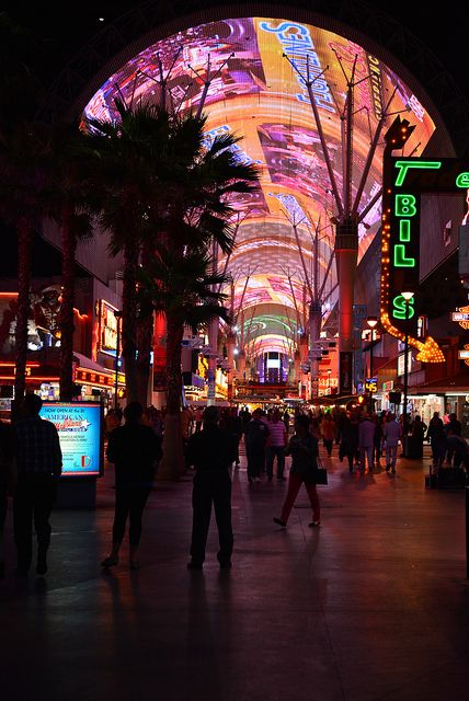 Top 6 Absolutely Free Things to Do in Las Vegas Freemont Street Experience by gsloan, via Flickr
