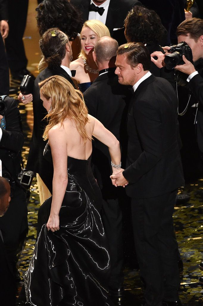 Leonardo DiCaprio and Kate Winslet at the Oscars 2016   POPSUGAR Celebrity