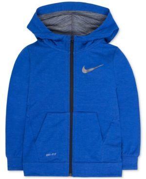 Nike Fleece Training Hoodie, Toddler Boys (2T-5T) & Little Boys (2-7) - Blue 2T