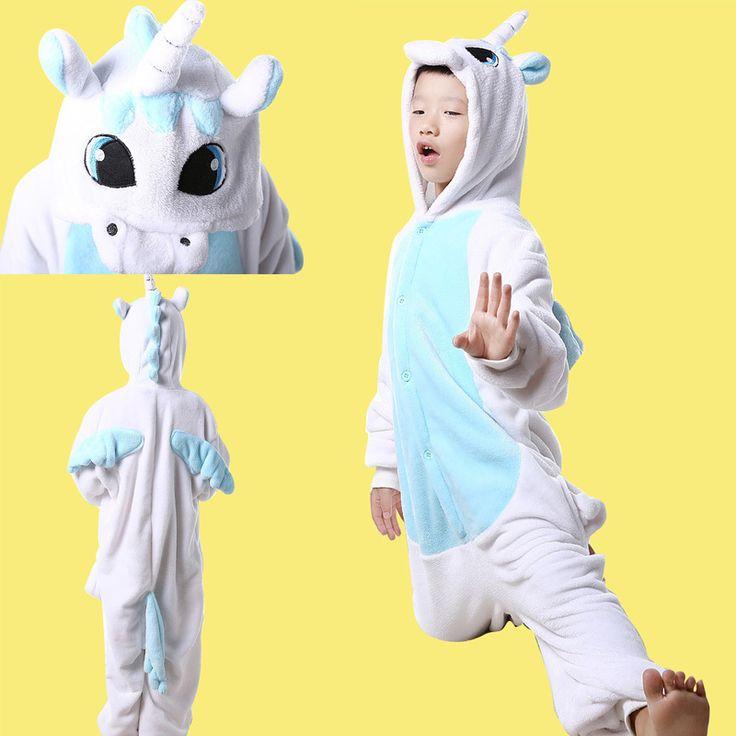 Blue Unicorn Kids kigrumi Onesies Hoodie Animal Costume Pajamas#Unicorn Onesies#Unicorn Costume#Unicorn Pajamas