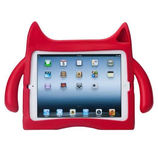 Ndevr iPad Mini Case - RED | Designed especially for active, playful kids, the non-toxic, soft and loveable Ndevr is a great source of protection for your iPad! #Ndevr #iPad #kids #cute #fun #playful #nontoxic
