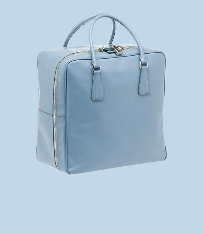 prada multicolour leather travel bag