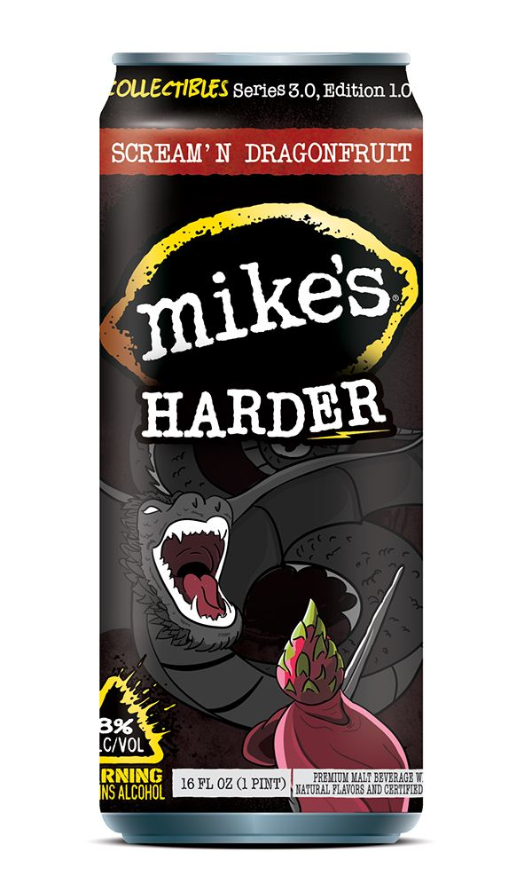Mikes Harder Lemonade - Dragonfruit illustration can design.