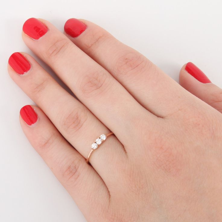 Triple diamond ring, $1,025.00   Catbird
