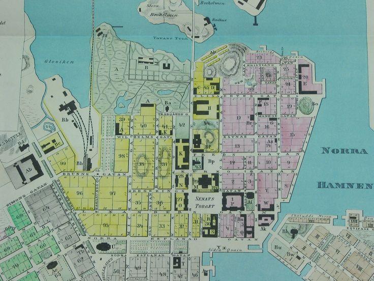 Helsinki 1863. Kajanuksen kartta. histdoc.net