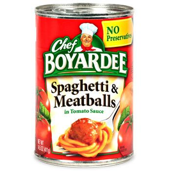 Chef Boyardee Spaghetti and Meatballs, 15-oz. Can