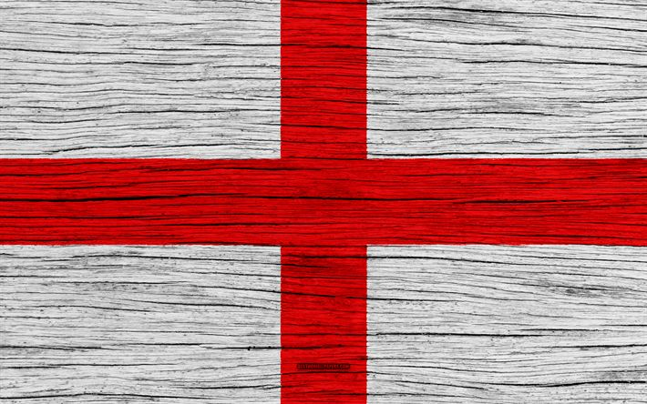 Download wallpapers Flag of England, 4k, Europe, wooden texture, English flag, national symbols, England flag, art, England