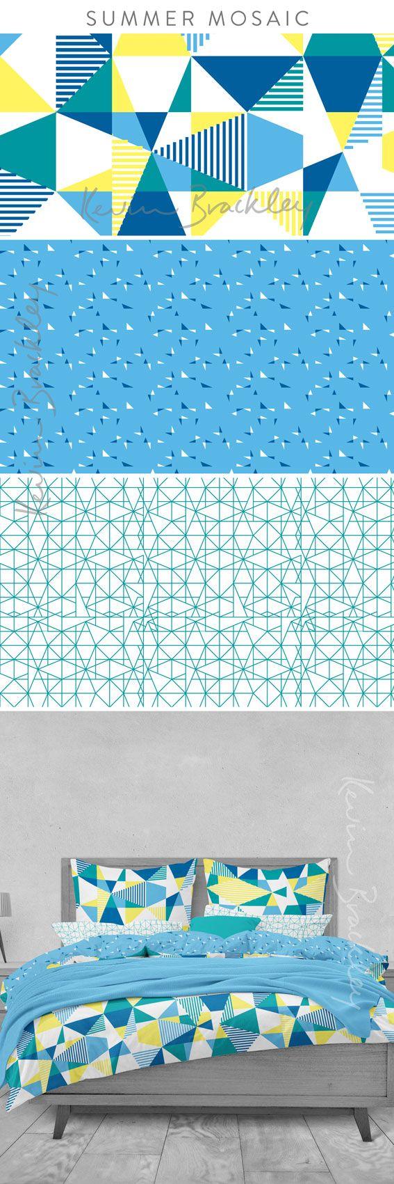 Bedding ideas in my Summer Mosaic designs