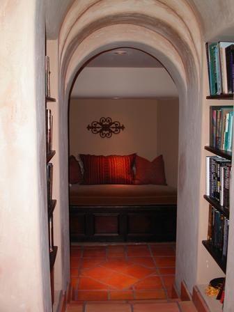 cozy hallway w books