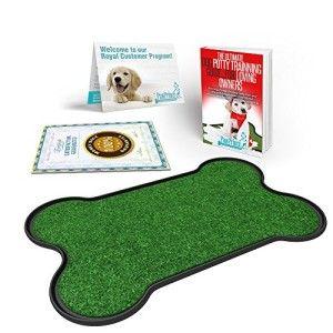 paw prince dog potty patch bone shaped dog restroom