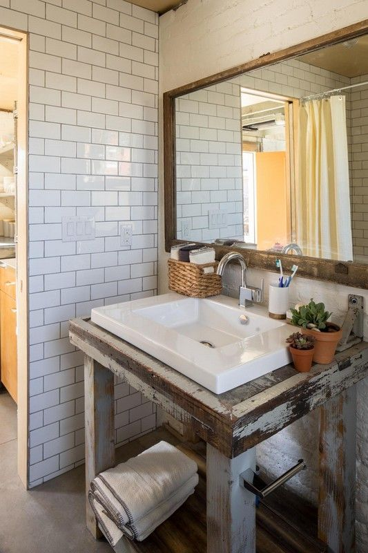Bathroom. Bathroom decoration using white subway tile bathroom wall  including rustic aged wood bathroom vanity - 25+ Best Ideas About Wood Tile Bathrooms On Pinterest Wood Tile