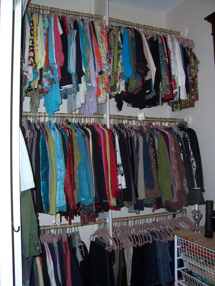 Triple Hanging Racks Walk In Closet Ideas Pinterest