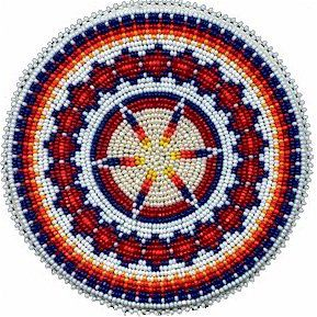 Native American Beaded Rosettes | KQ Designs - Native American Beadwork, Powwow Regalia, and Beaded ...