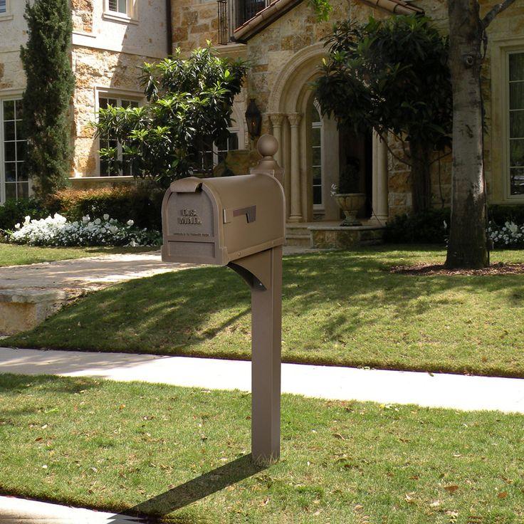 Postmaster Mailbox Post: ** Shop PostMaster Textured Bronze Steel Mailbox Post At