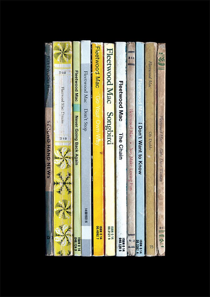 Fleetwood Mac 'Rumours' Album As Penguin Books Poster Print Literary Print Music Art Classic Rock