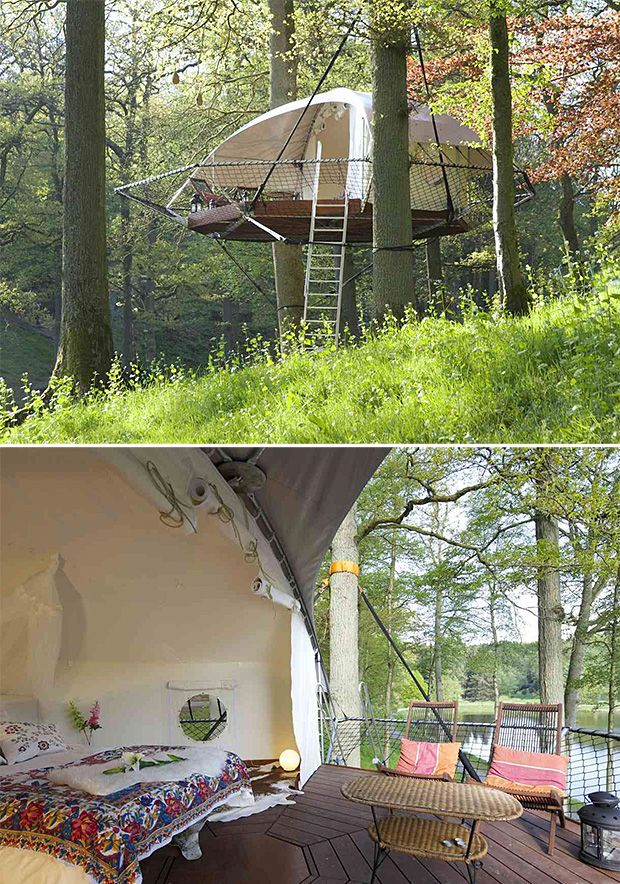1000 images about tree houses on pinterest trees a for Tent platform construction