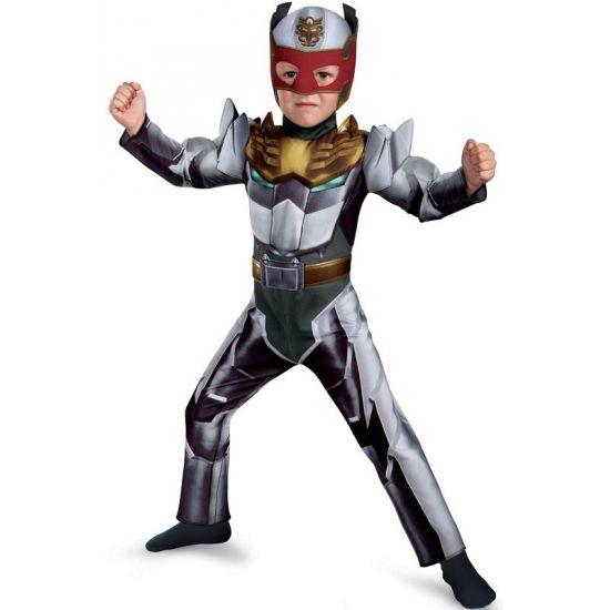 Robo Knight kostuum voor jongens. Ga verkleed als een Power Ranger Robo Knight met dit gave kostuum! Bestaat uit een jumpsuit en masker. Geschikt voor kinderen van 4 - 6 jaar. Carnavalskleding 2015 #carnaval