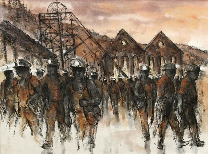 Valerie Ganz - Six Bells Colliery #mining #art #WelshArt