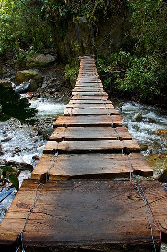 Footbridge, Valle de Cocora, Colombia