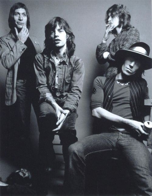 CHARLIE WATTS, MICK JAGGER, MICK TAYLOR et KEITH RICHARDS