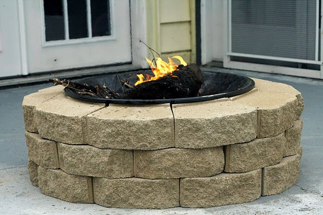 DIY firepit $30. Oh yes!  This is going on our porch for sure!