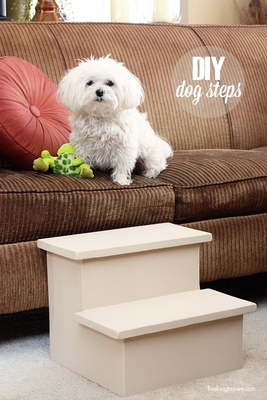DIY: Doggy Steps - Tutorial (a helping hand down from the sofa for our small furry friends!)