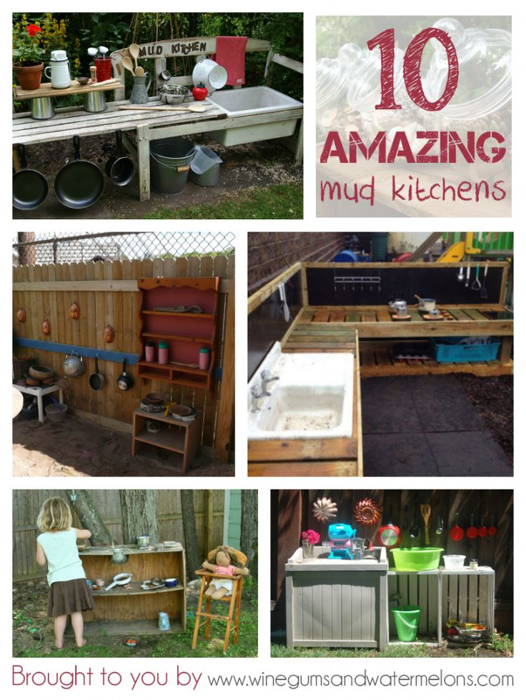 10 amazing #mud kitchens for outdoor play #DIY #kids