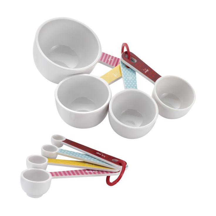 Cake Boss Countertop Accessories 8 Piece Measuring Cup & Spoon Set