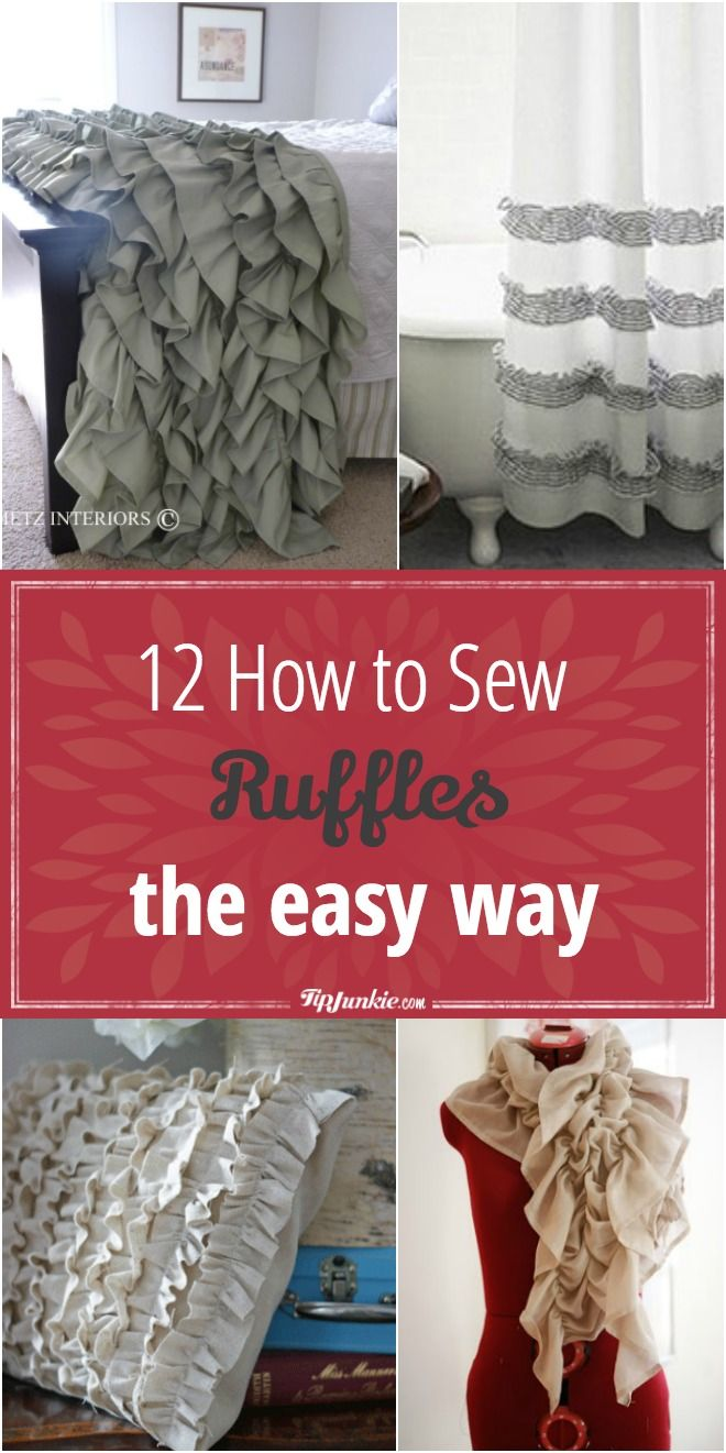 12 how to sew ruffles the easy way!