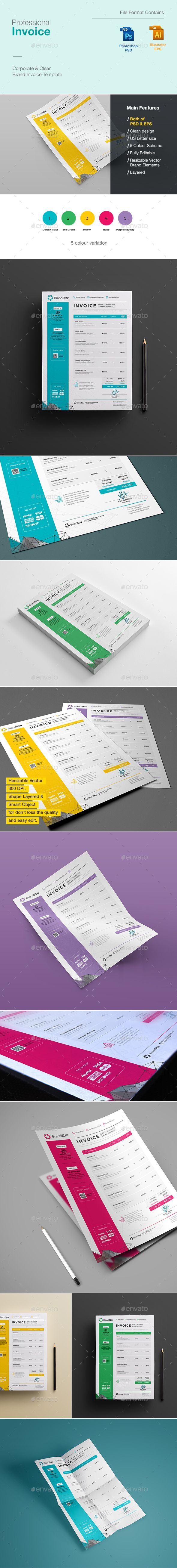 Invoice  — PSD Template #excel #clean design #bill • Download ➝…