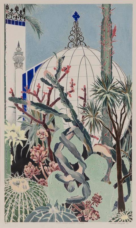 Cressida Campbell - Cactii, Botanic Gardens Adelaide 1987