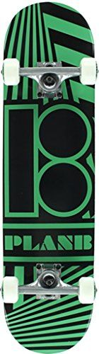 Plan B Skateboards Angular Black  Green Complete Skateboard  77 x 32 -- More info could be found at the image url.