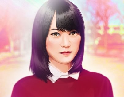 """fan art erika ikuta nogizaka46 vector vexel cartoon version"" http://be.net/gallery/42412221/fan-art-erika-ikuta-nogizaka46-cartoon-version"